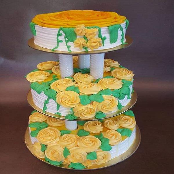 3 Tier cake by soniya | Bulb And key