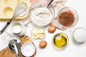 Cake Ingredients in Room Temperature