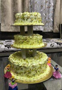 3 Tier Rasmalai Cake