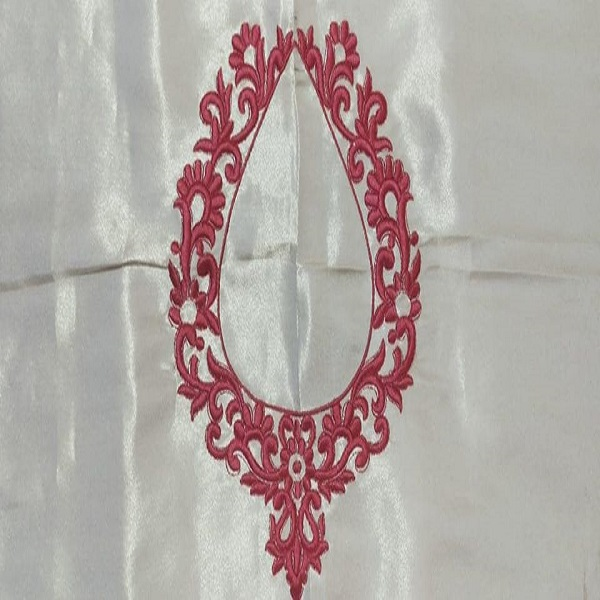 Embroidery design white