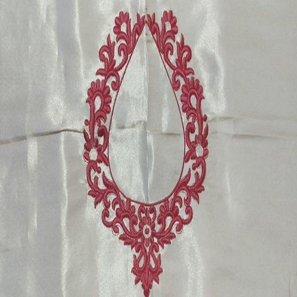 Embroidery design white