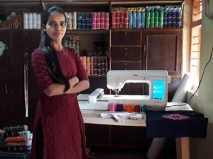 Sapna Gulave with her machine