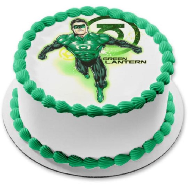 green lantern-cake