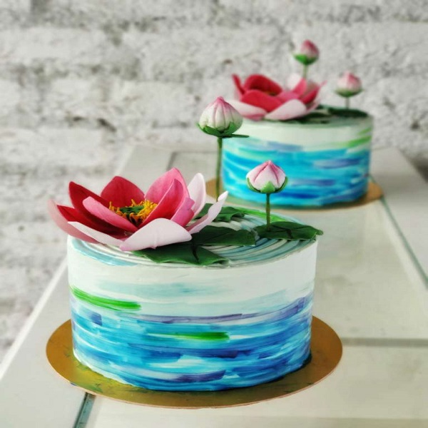 aqua theme cake