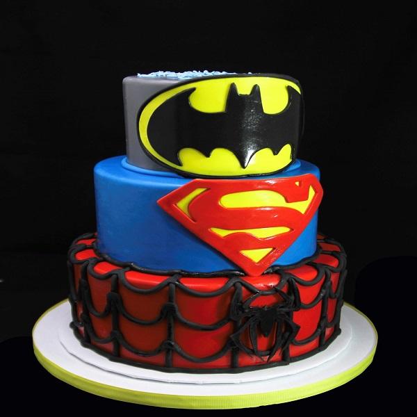 Superhero Cake | Bulb And Key