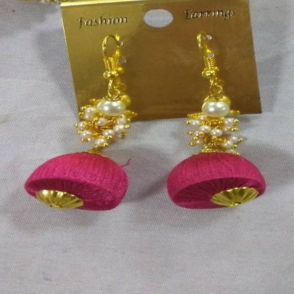 Pink Gold Handmade Earrings
