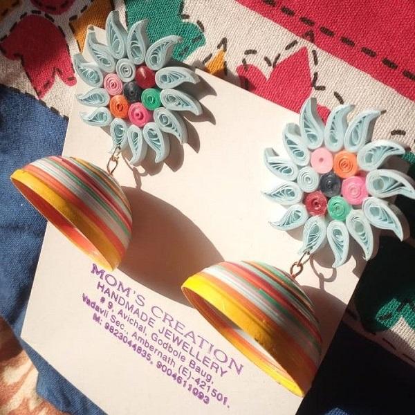 Flower Style Multicolour Jhumkas