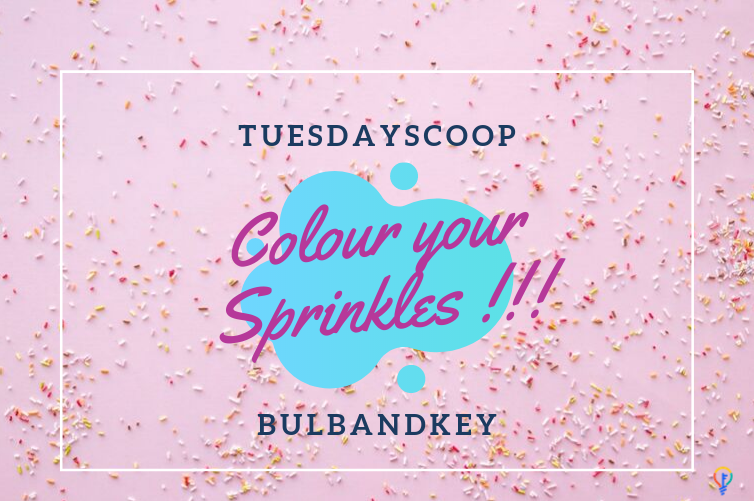 [Tuesday Scoop] Colour your Sprinkles !!!