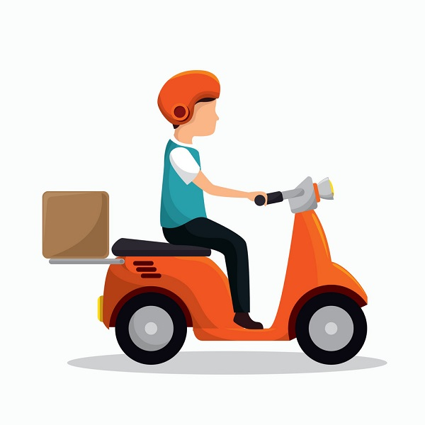 Delivery service | Bulb and key