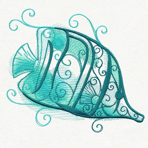 Aqua Marine Embroidery