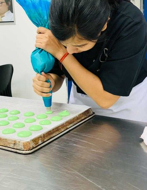 Radhika making a Cake