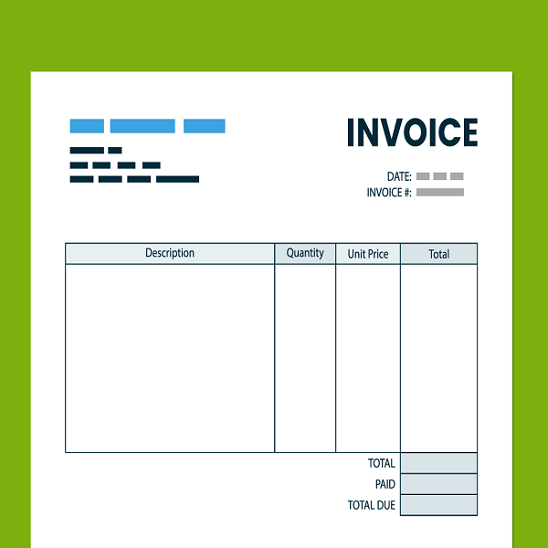 Organizing all the source documents like invoices | bulb and key