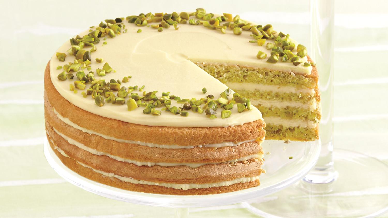 honey pistachio cake