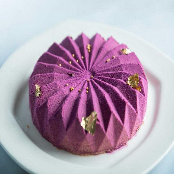 Purple pastry