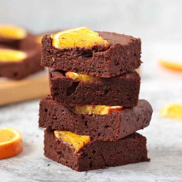 Orange Chocolate Brownies | Bulb And Key