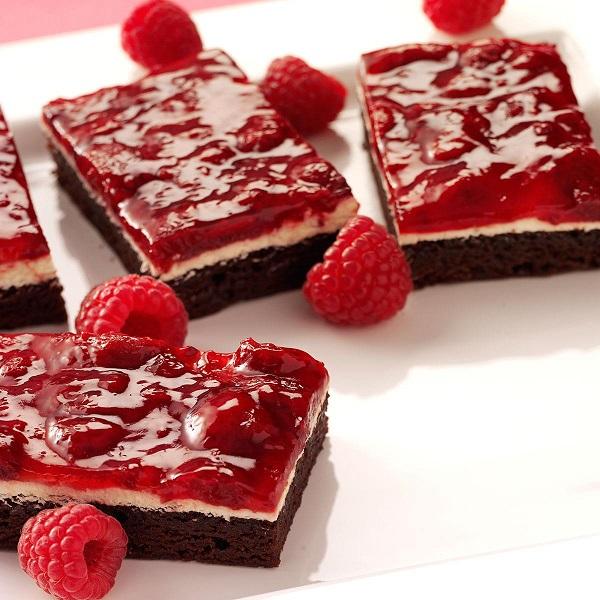 Raspberry Brownies | Bulb And Key
