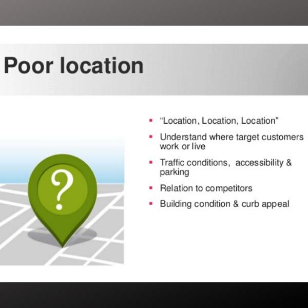 poor location