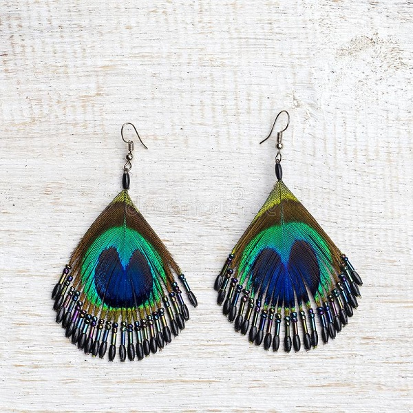 peacock feather jewelry