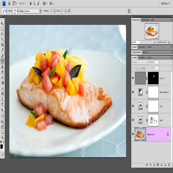 Editing food photo