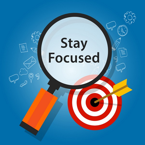 Focus On Your Goal   Bulb And Key