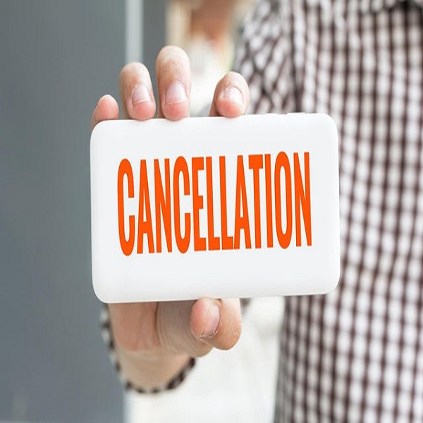 cancelation of events
