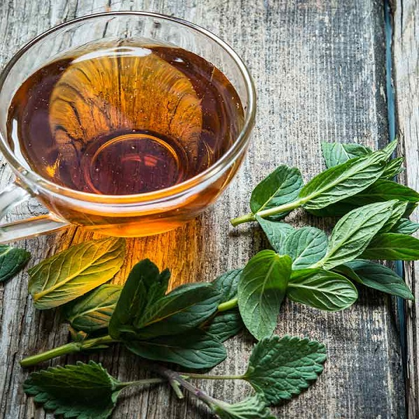 Peppermint tea: