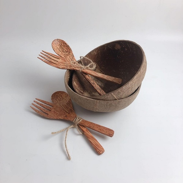 Coconut Shell Spoons and Forks