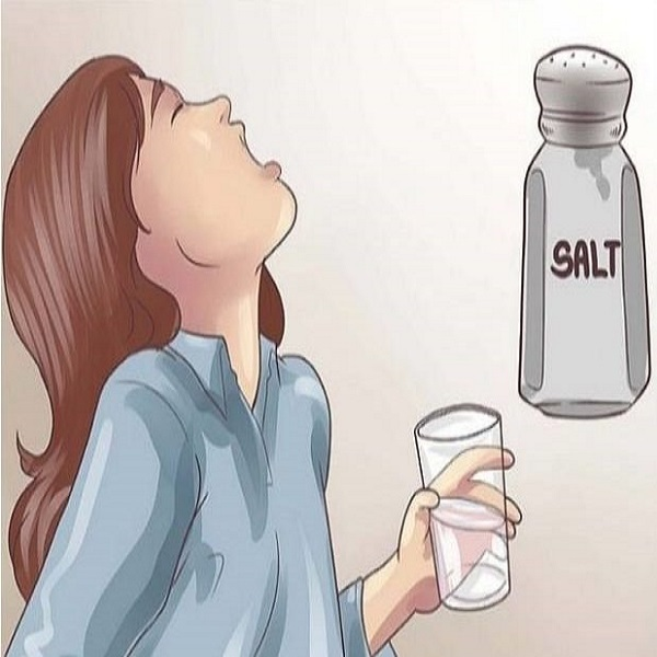warm salt rinse