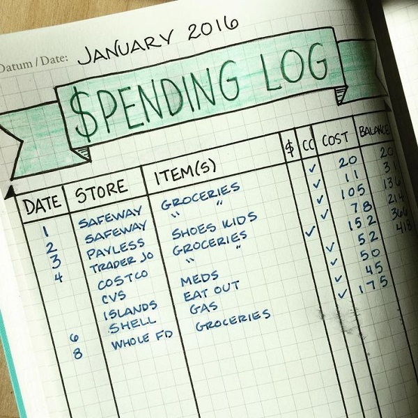 Keeping track of cash account