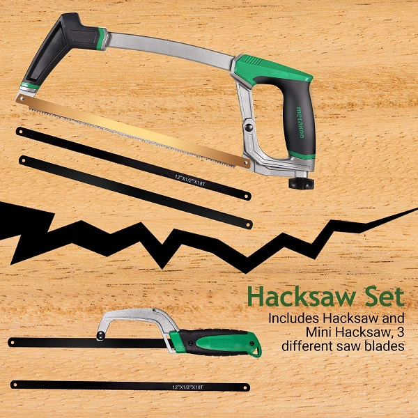 2.Install blade on a hacksaw
