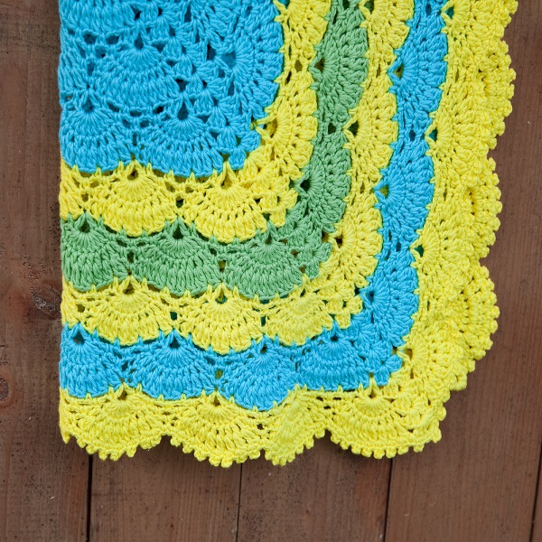 Shell Stitch Crochet Afghan Pattern | Bulb And Key
