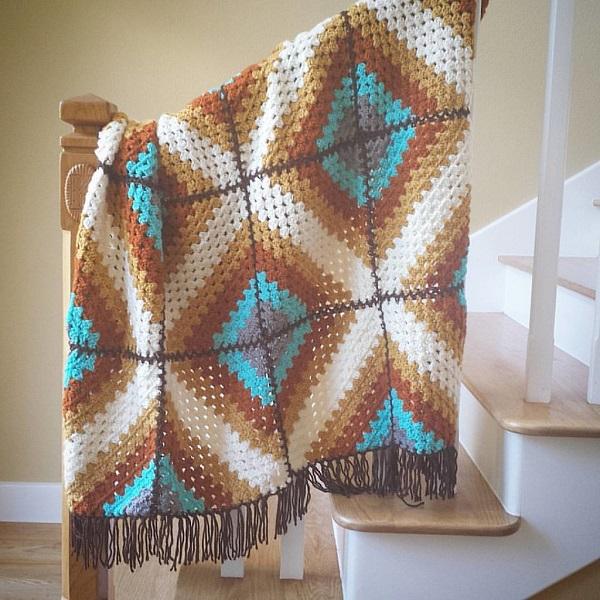 Southwest Afghan Crochet Pattern | Bulb And Key