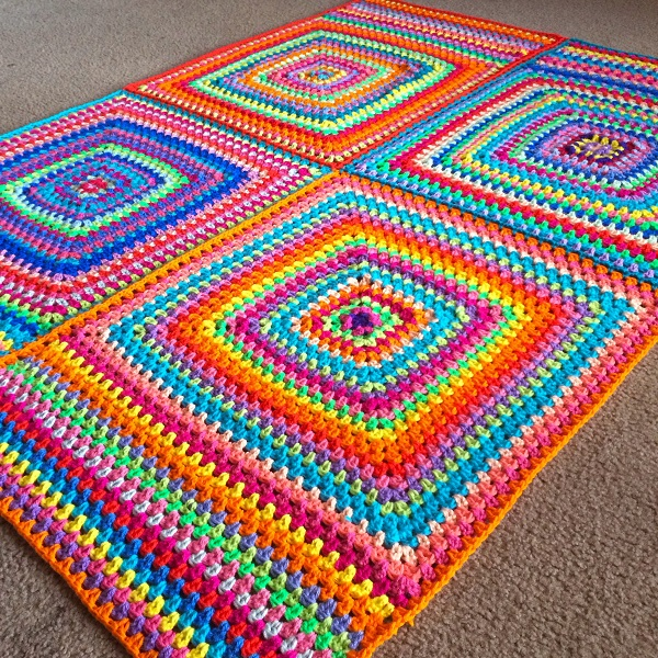 Square Crochet Afghan Pattern | Bulb and Key