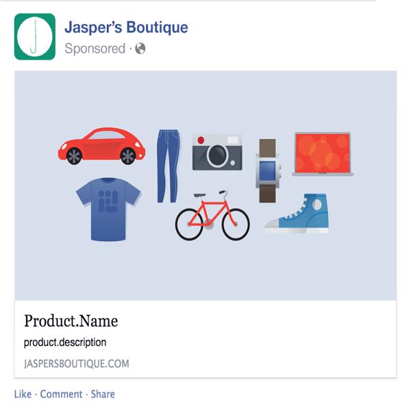 Use Facebook's Product Ad Catalog