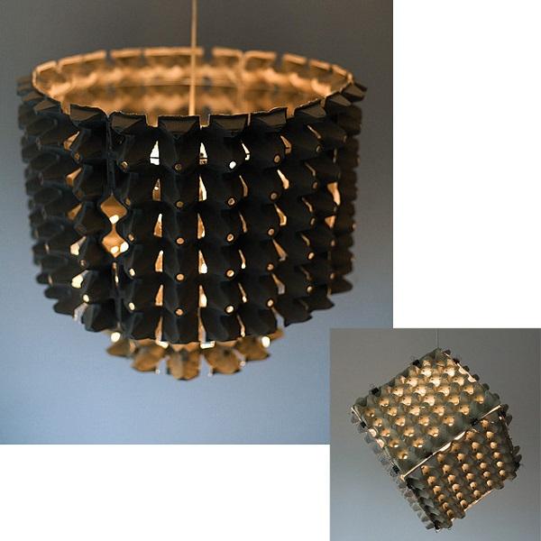 Egg Carton Lamp