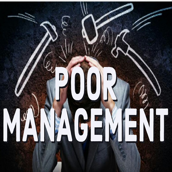 Poor management | bulb and key