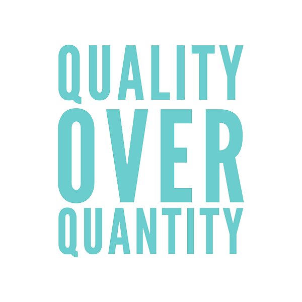 Quality over Quantity | bulb and key