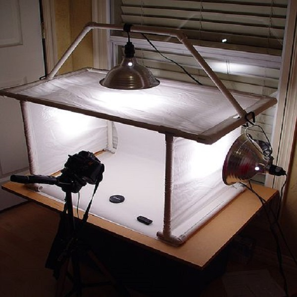 Incorrect setting of photography lamp sides