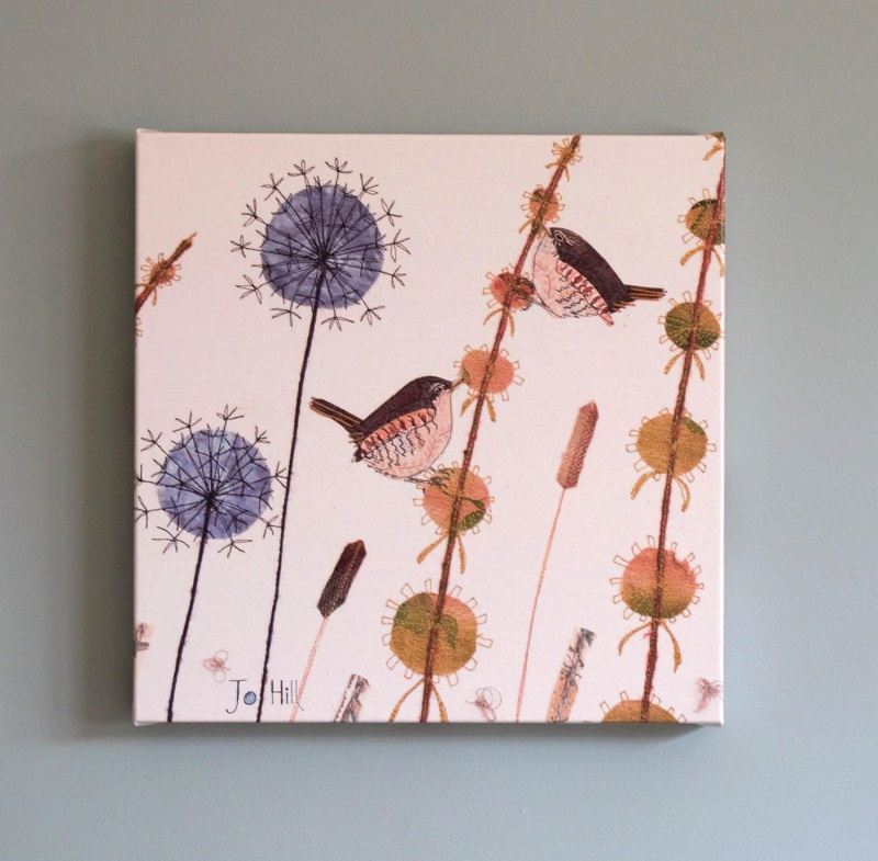 EMBROIDERY ON A STRETCHED CANVAS?
