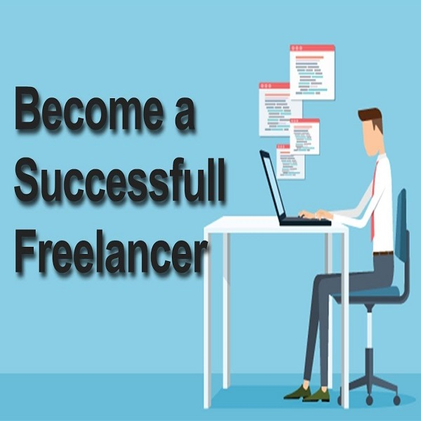 Become a freelancer | bulb and key