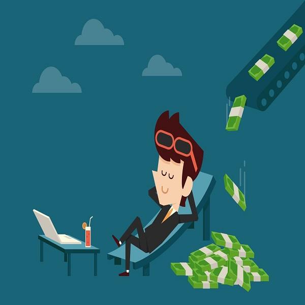 income | bulb and key