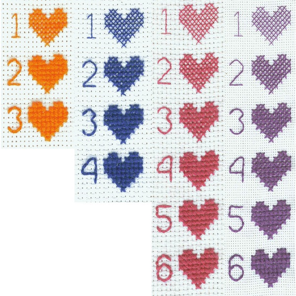 Organizing cross stitch patterns