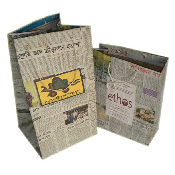 Handmade Newspaper Bag