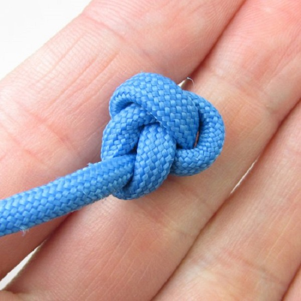 Finishing off the knots
