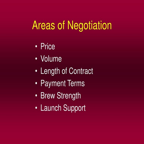 Areas of Negotiation