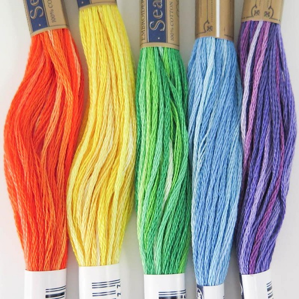 Variegated Hand Embroidery Threads