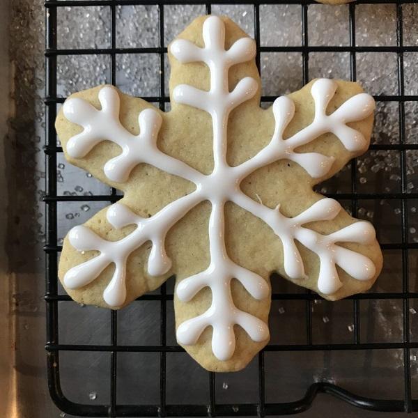 Pecan Snowflake Cookies