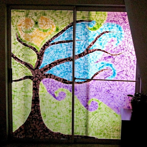 2)  Tissue Paper Stain Glass