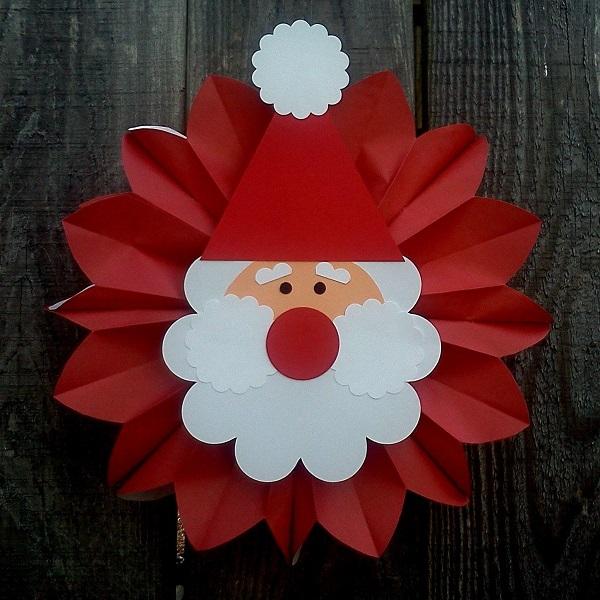 Paper Plate Santa/Christmas Tree